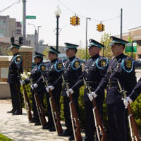 Police Officers Lined Up in Ceremony