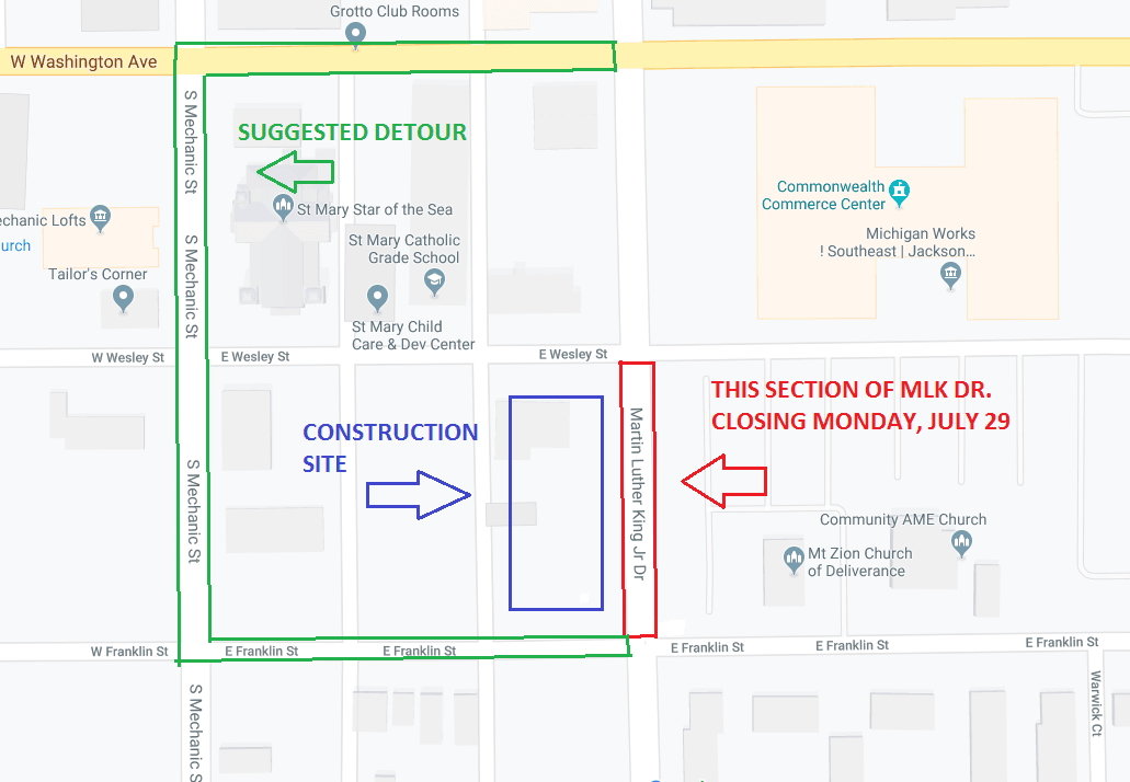 MLK closure map