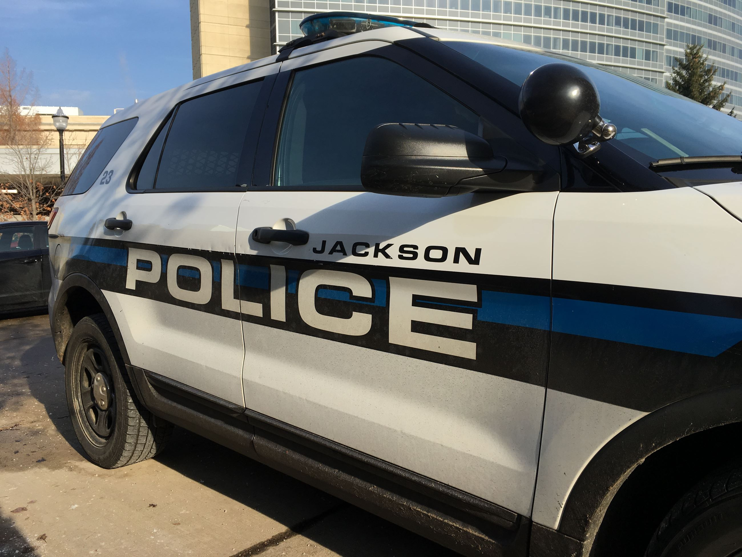 Exterior view of Jackson Police Department patrol car