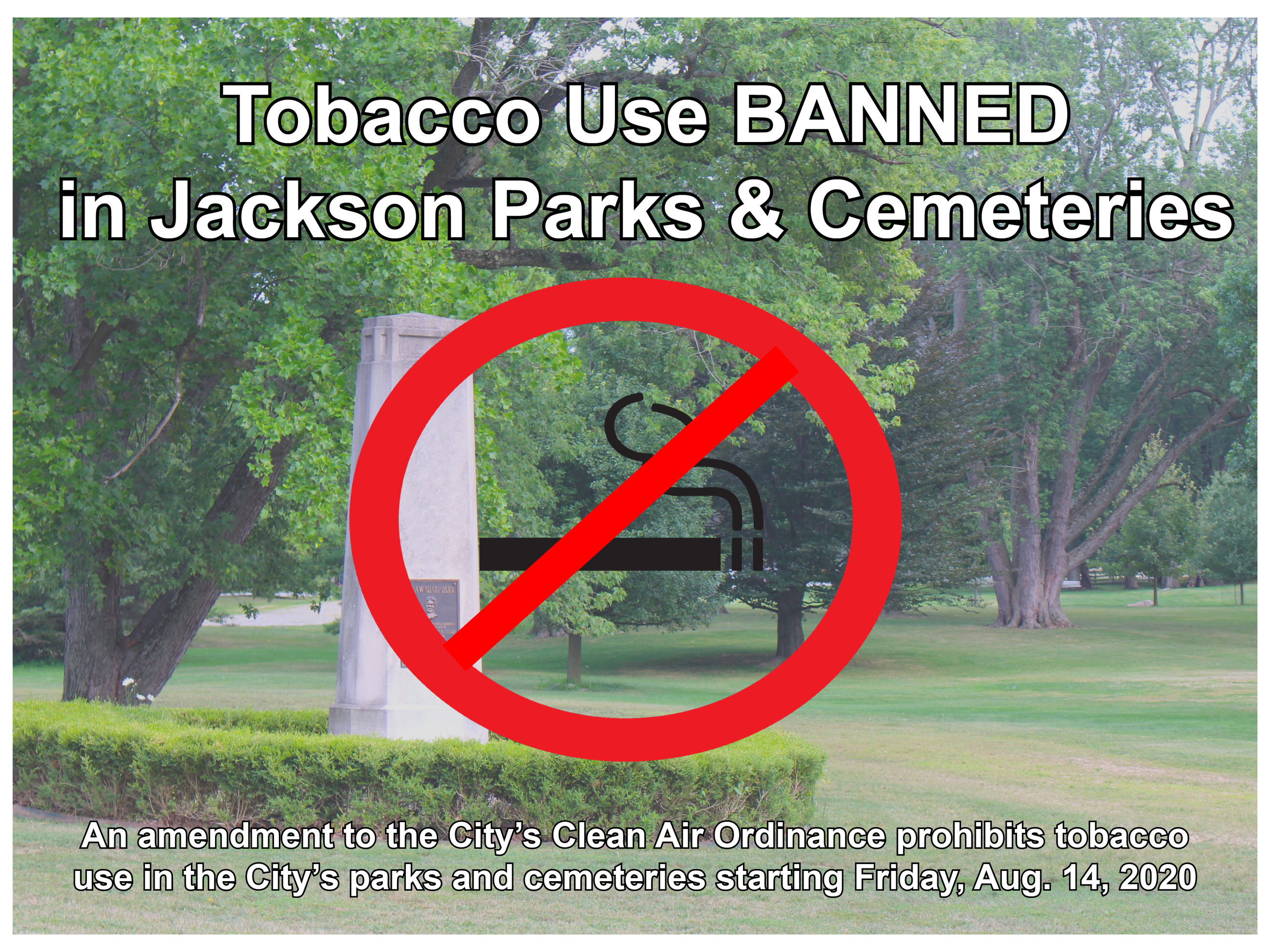 No smoking in Jackson parks graphic