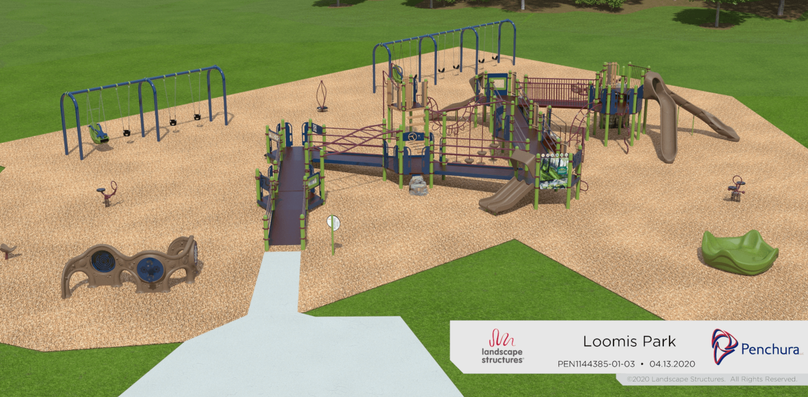 Proposed new playground at Loomis Park