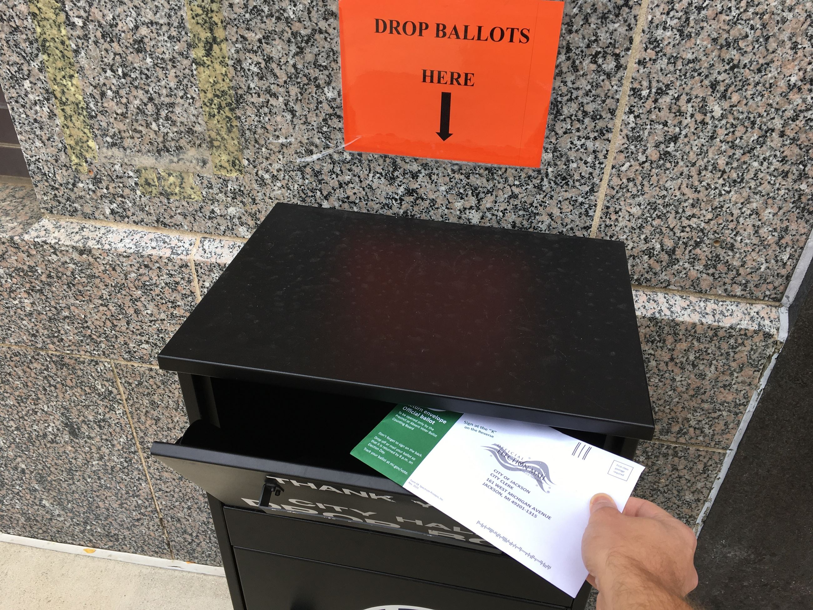 City Hall ballot drop box