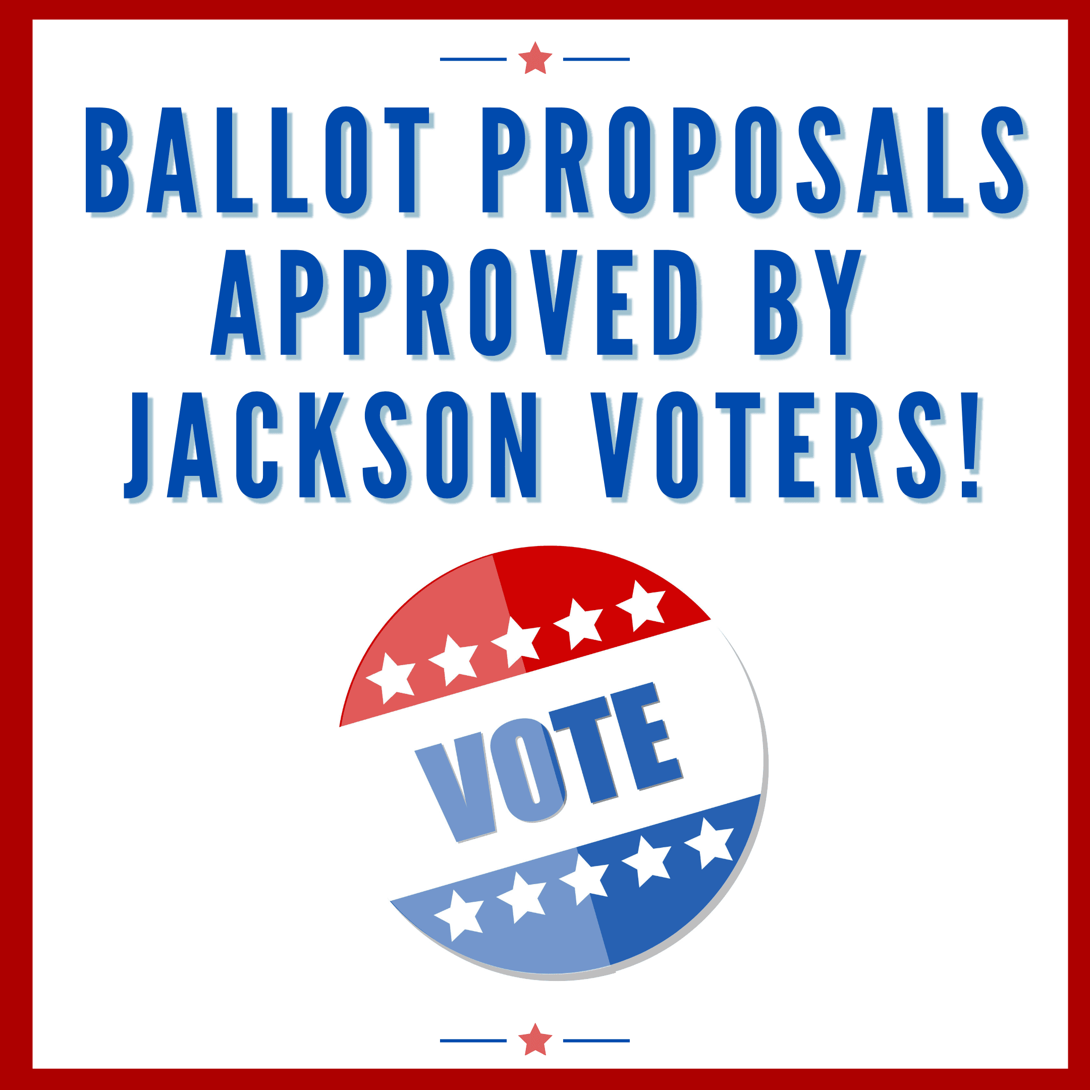 Ballot proposals approved