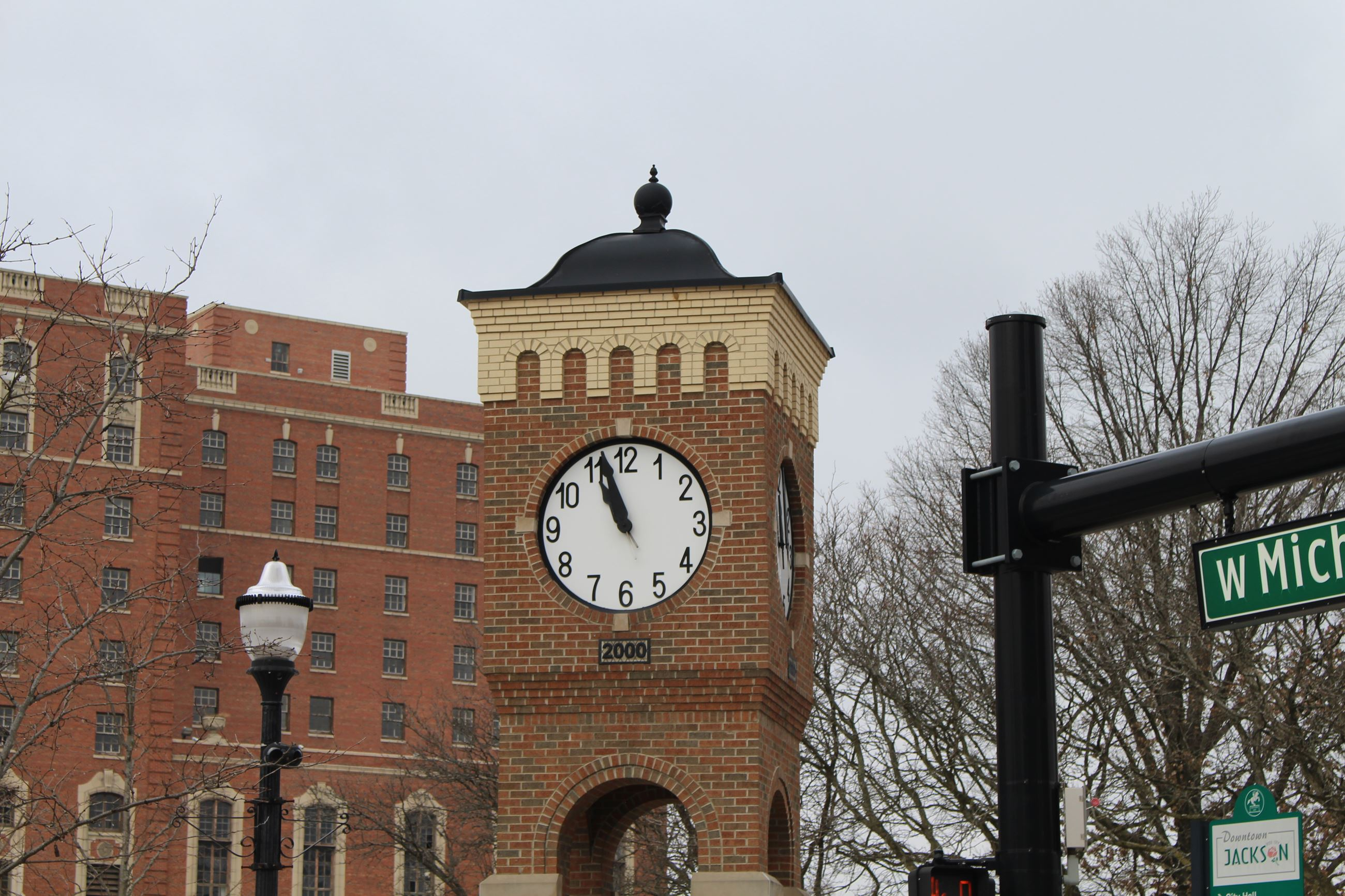 Millennium Clock Tower in Downtown Jackson